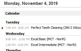 Calendar setup in Outlook Today
